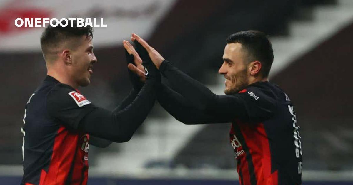  Luka Jović scores twice for Eintracht Frankfurt after Madrid exit